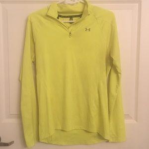 Yellow Under Armour 3/4 zip pullover - Medium